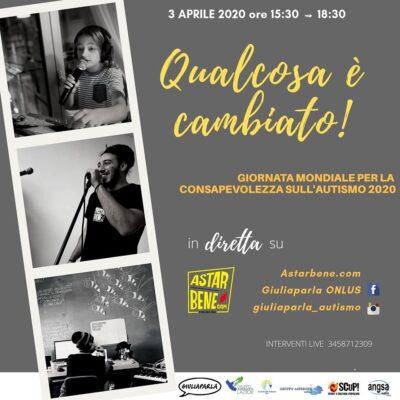 """3 Aprile diretta RADIO """"QUALCOSA E' CAMBIATO"""" per la Giornata Mondiale della Consapevolezza dell'Autismo – continua"""