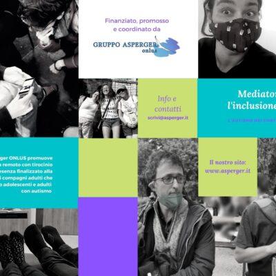 """Percorso gratuito di formazione 2021-22  in """"Mediatore per l'inclusione sociale – L'autismo nei contesti naturali"""""""